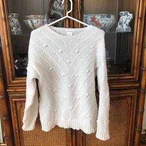 Zara Kids Oversized Cream Sweater